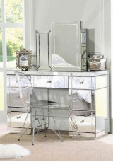 Fatima Mirrored Desk W135cm