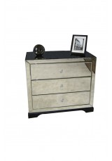 Bentley 3 Drawer Mirrored Bedside Table 60cm