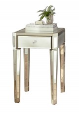 Branden Mirrored Bedside Table H70cm
