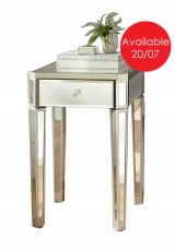 Branden Mirrored Side Table 70H