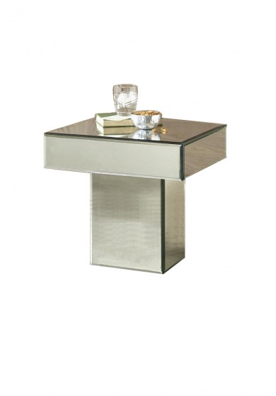 Dauphine Mirrored Table W46cm
