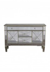Avery Mirrored Sideboard / Buffet Cabinet W120cm