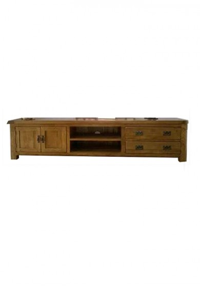 Drake TV Cabinet  W220cm - Solid Oak