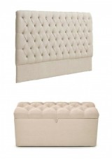 Manchester Headboard King + End of Bed Ottoman Package